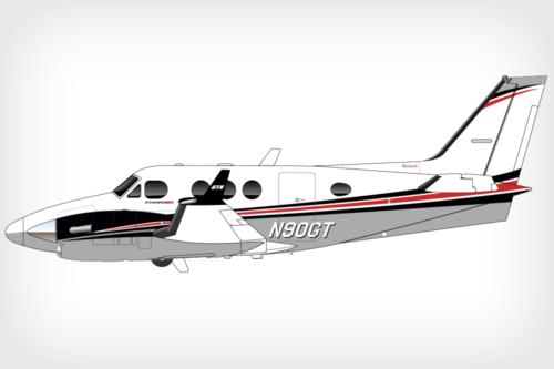 King Air C90GTx paint design