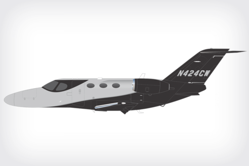 Cessna Mustang paint design rendering