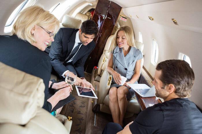 Private corporate jet management