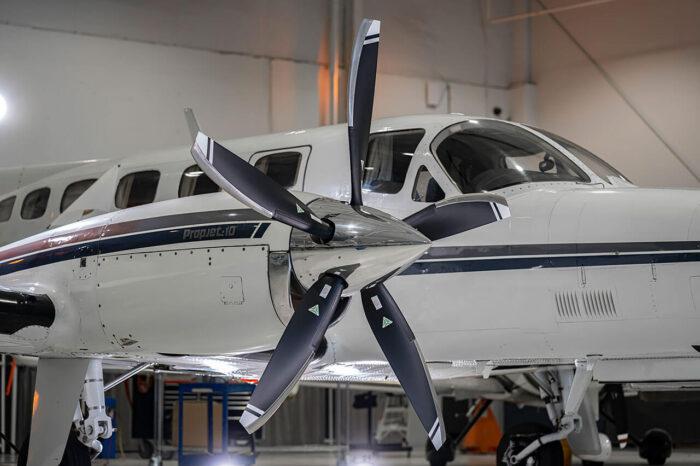 Aircraft propeller installation
